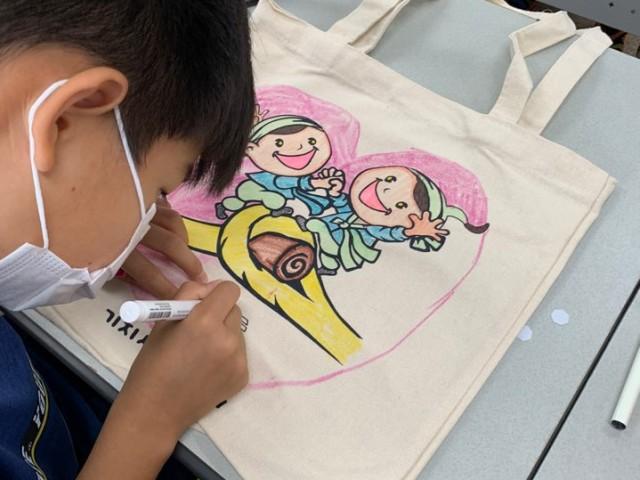 [2020-생생문화재] 8월 지역(송악)아동센터 체험  - 태극기바람개비, 에코백
